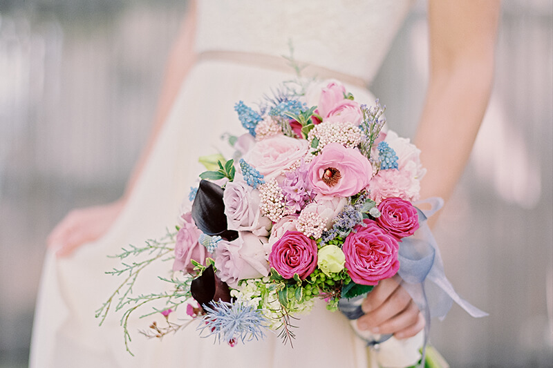 Wedding Dress and Florals