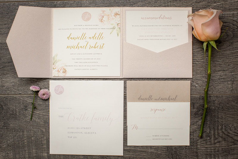 Edmonton Wedding Stationary Design